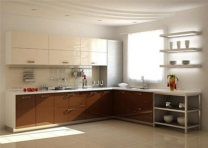 1. кухня в нейтральных тонах