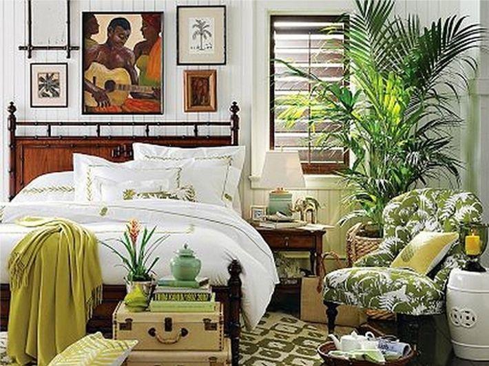 10. Цветы в интерьере спальни