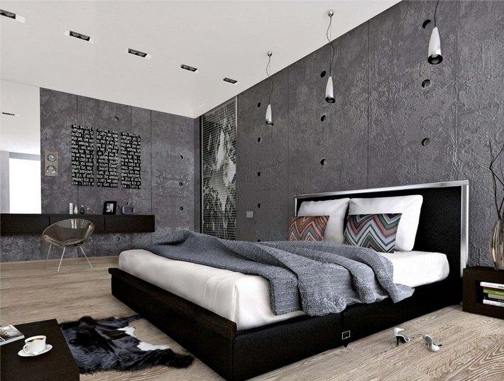 12. Спальня в стиле лофт