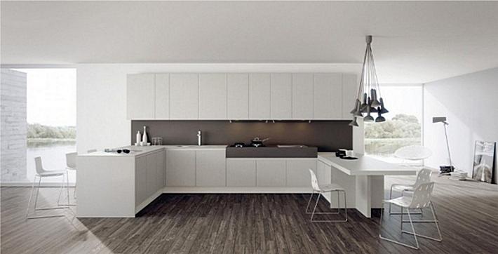 14. текстурированный ламинат на кухне