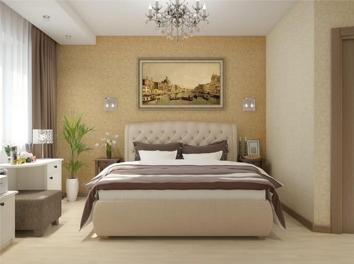 4. Кровать в спальне