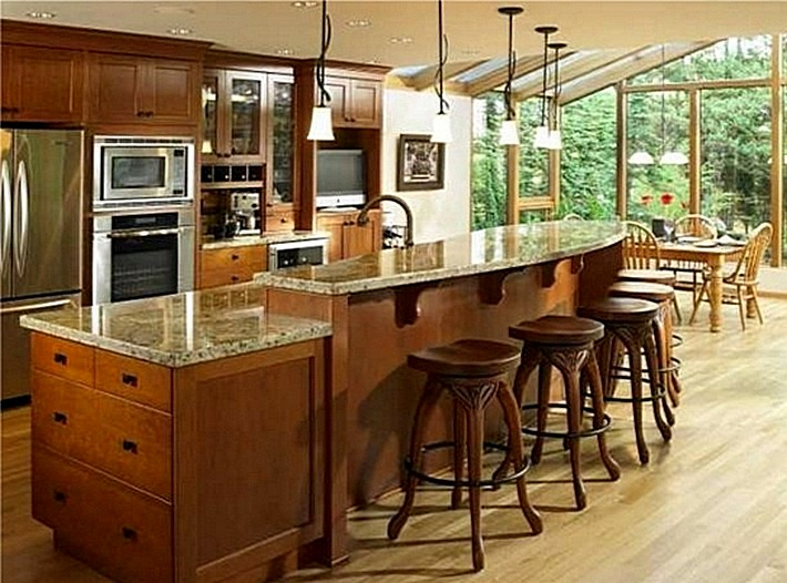 4. барные стойки и кухонные островки