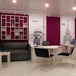 Дизайн интерьера офиса туристической компании