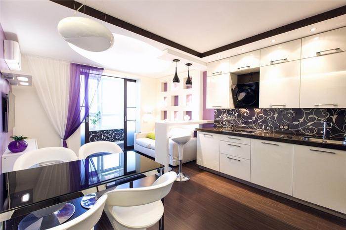 Кухня-столовая на 20 кв.м дизайн