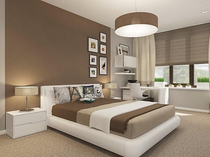 Дизайн интерьера коричневой спальни (20 фото) и удачные цветовые сочетания