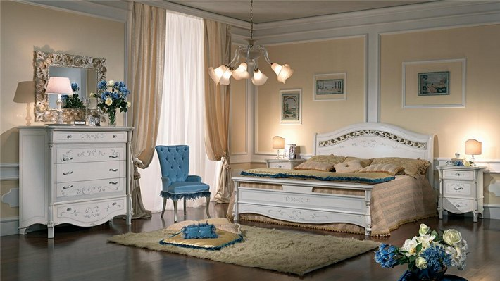 бежевый цвет в интерьере спальни