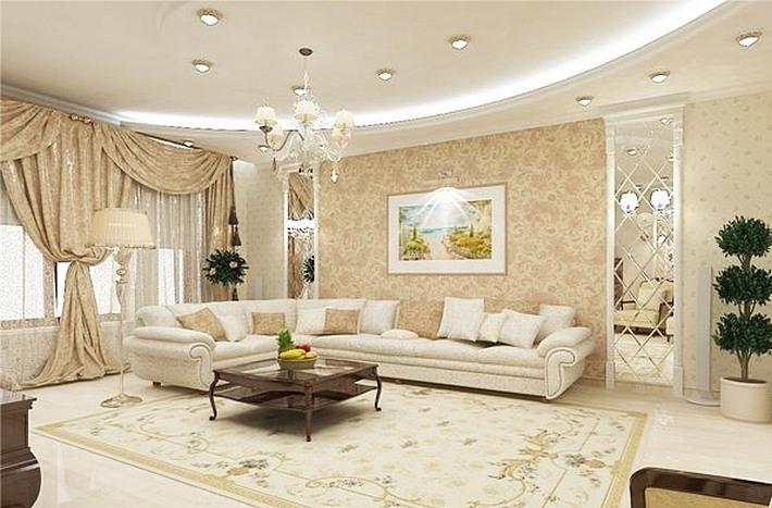 дизайн гостиной современная классика (1)