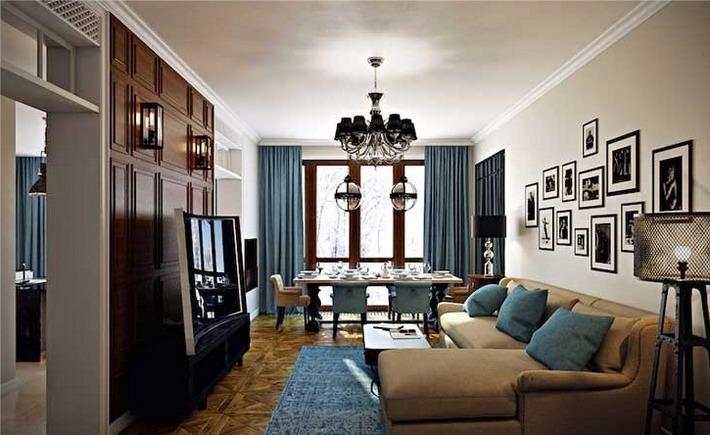 дизайн гостиной в стиле современная классика (2)
