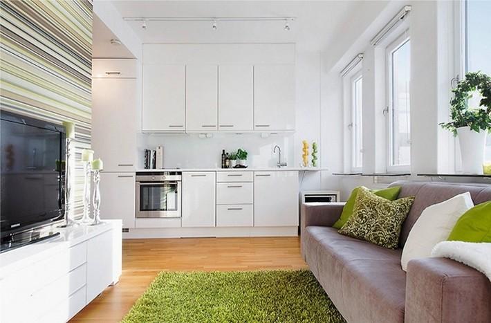 Дизайн квартиры студии 37 квм как ограничить спальню от кухни