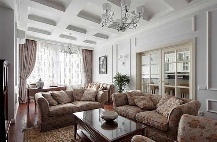 гостиная в стиле неоклассика (7)