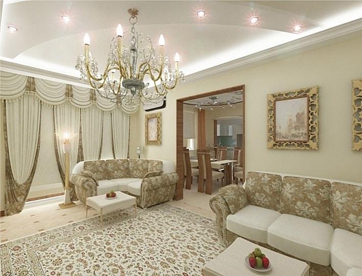 гостиная в стиле современная классика (5)