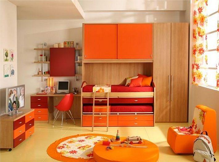 интерьер детской в оранжевом цвете