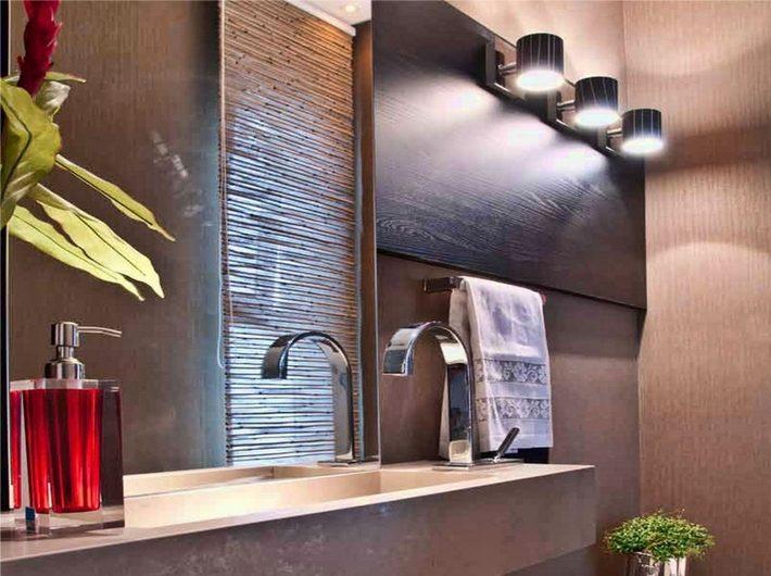 интерьеры освещения ванных комнат