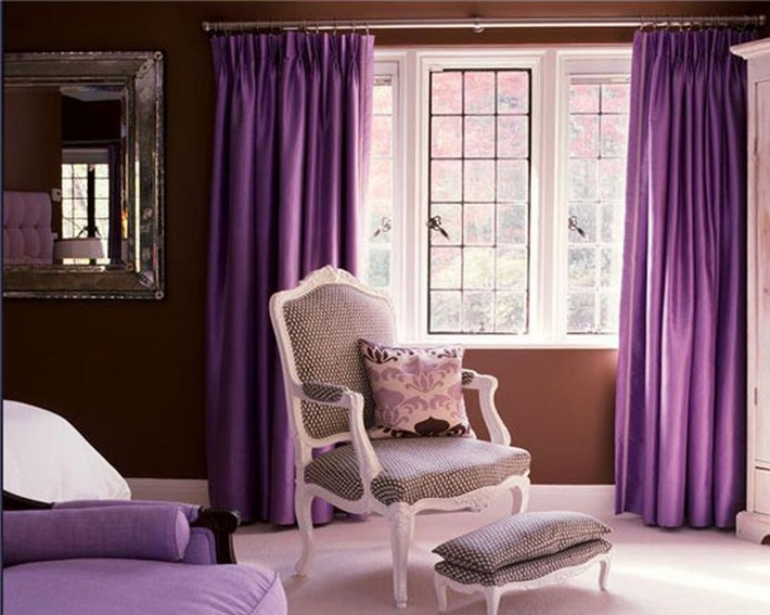 коричневый и фиолетовый