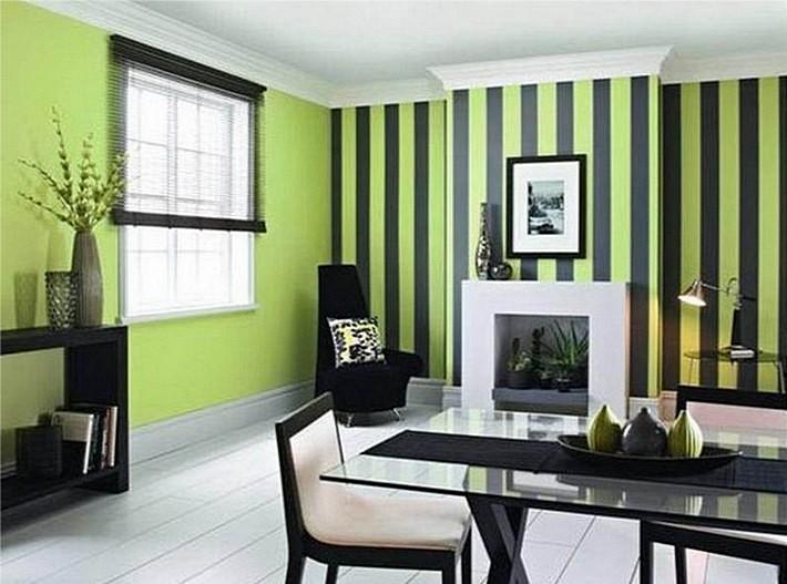 зеленый и черный цвета в интерьере
