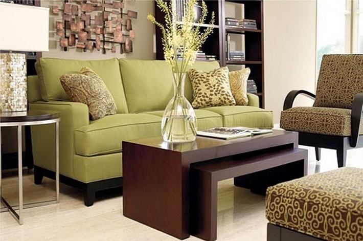 зеленый и коричневый цвета