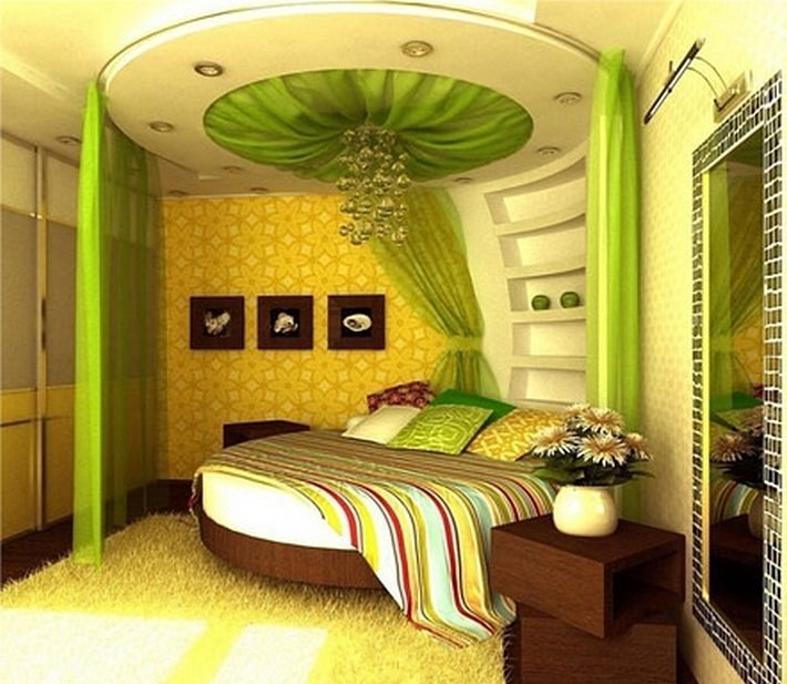 зеленый и желтый цвета