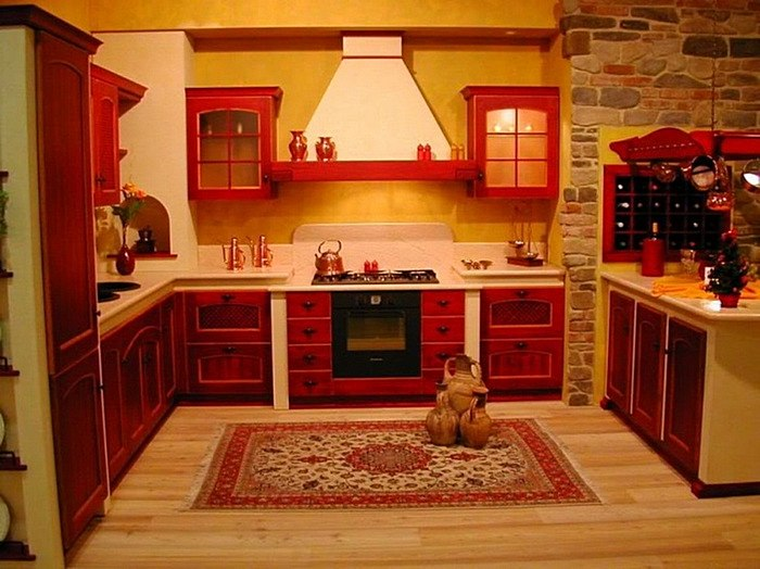 Дизайн желтой кухни (фото)