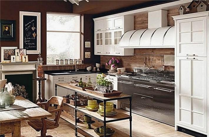 12. винтажный стиль на кухне