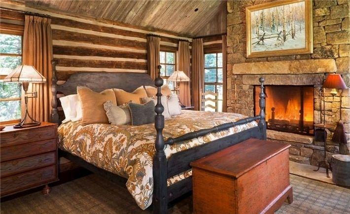 13. Спальня в рустикальном стиле