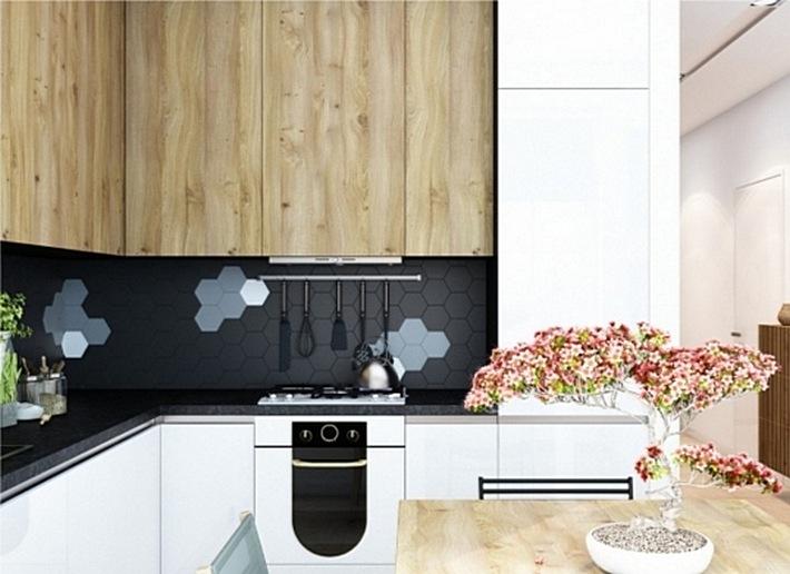 15. геометрические узоры на кухне