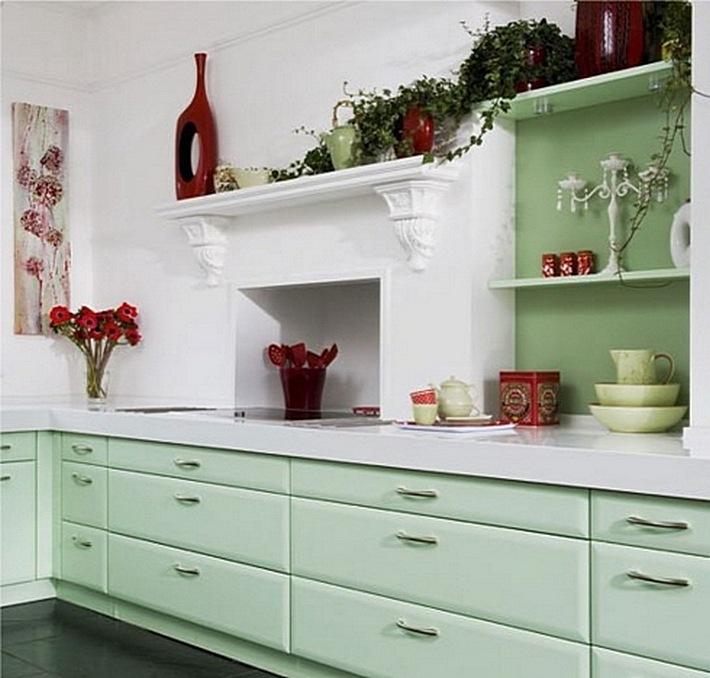 17. мятный цвет на кухне