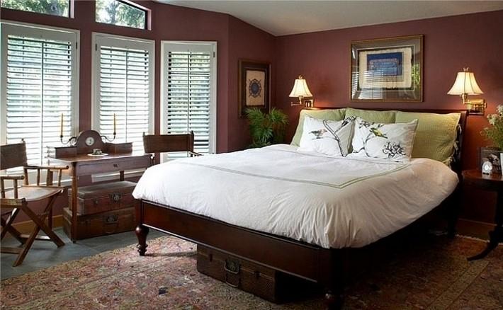 9. Цвет марсала в интерьере спальни