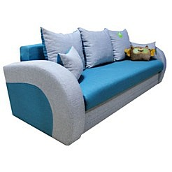 Серо голубые стены в гостиной
