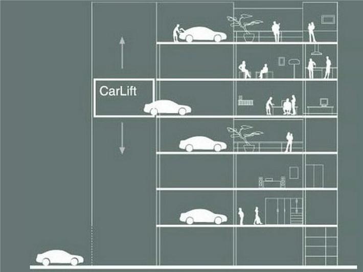 авто на балконе от carloft
