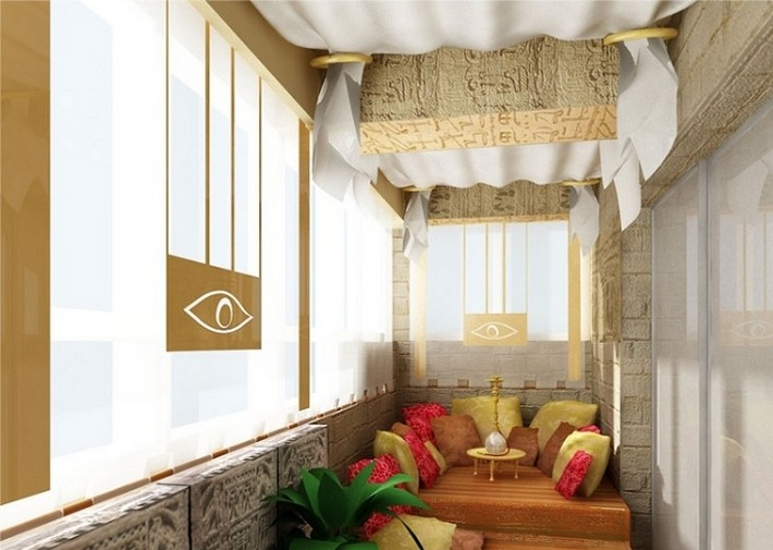 чайная комната на балконе