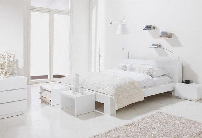 интерьер в белых цветах