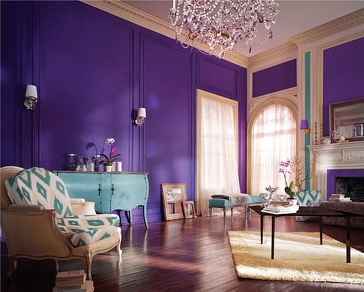 интерьер в фиолетовых цветах