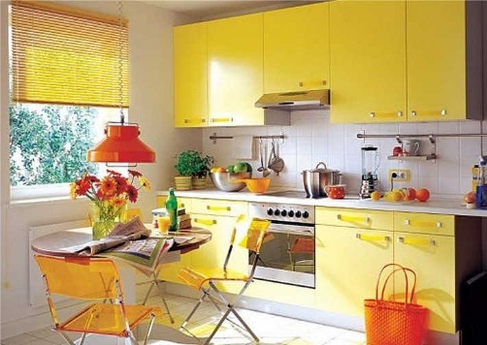 кухни желтого цвета