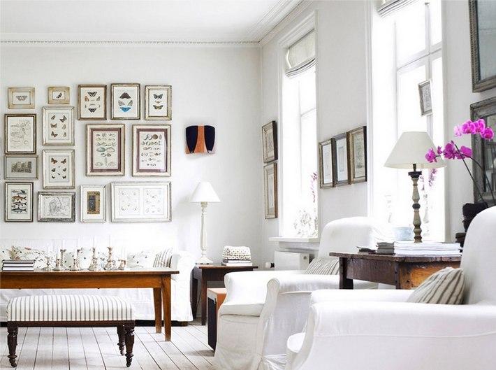 стены белого цвета в интерьере