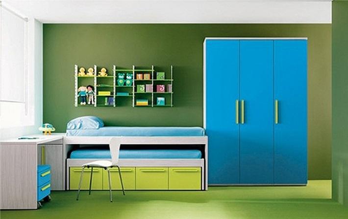 зеленый и синий цвета